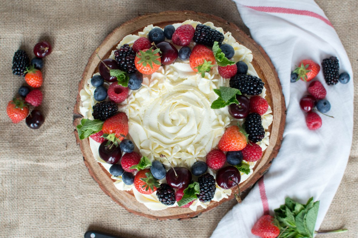 Summer Berry Cake - Kay's Kitchen