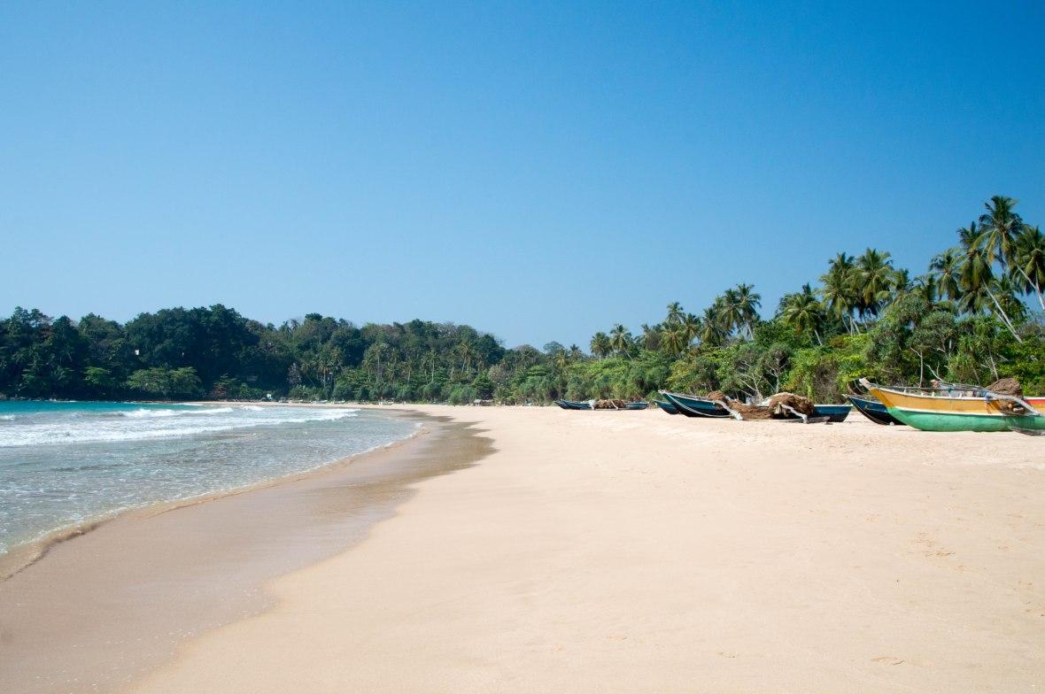 Boats On Talalla Beach, Sri Lanka