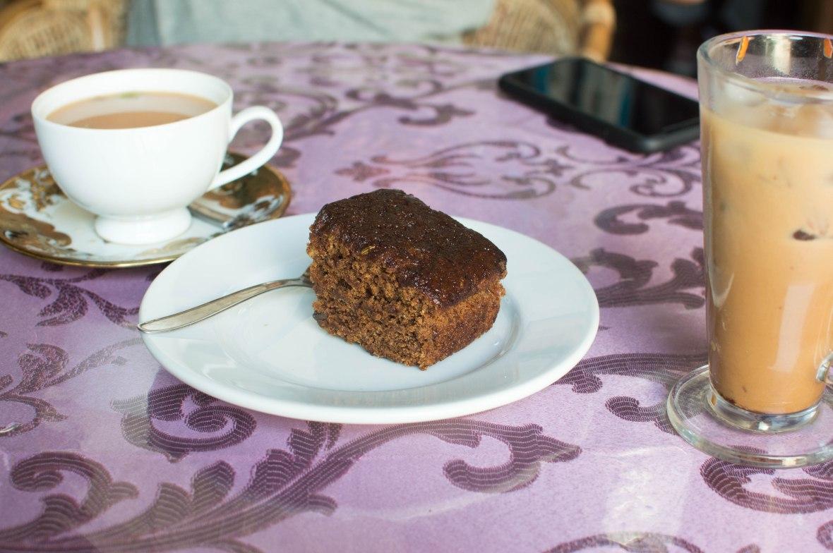 Coconut Cake, Iced Coffee And Spiced Chai, Royal Dutch Cafe, Galle, Sri Lanka