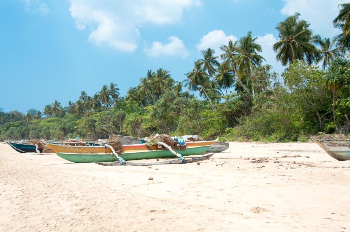Colourful Boats, Talalla Beach, Sri Lanka