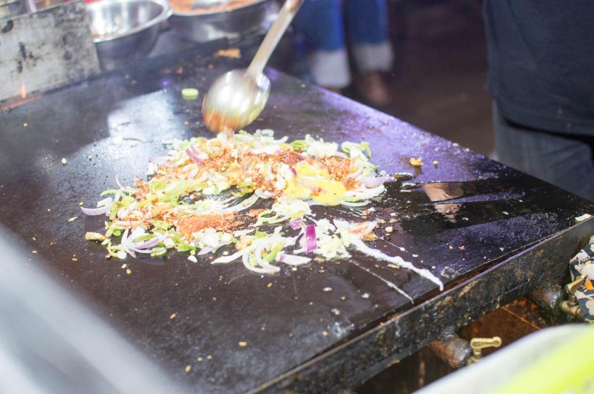 Cooking Food, Nana's King Street Food, Galle Face, Colombo, Sri Lanka