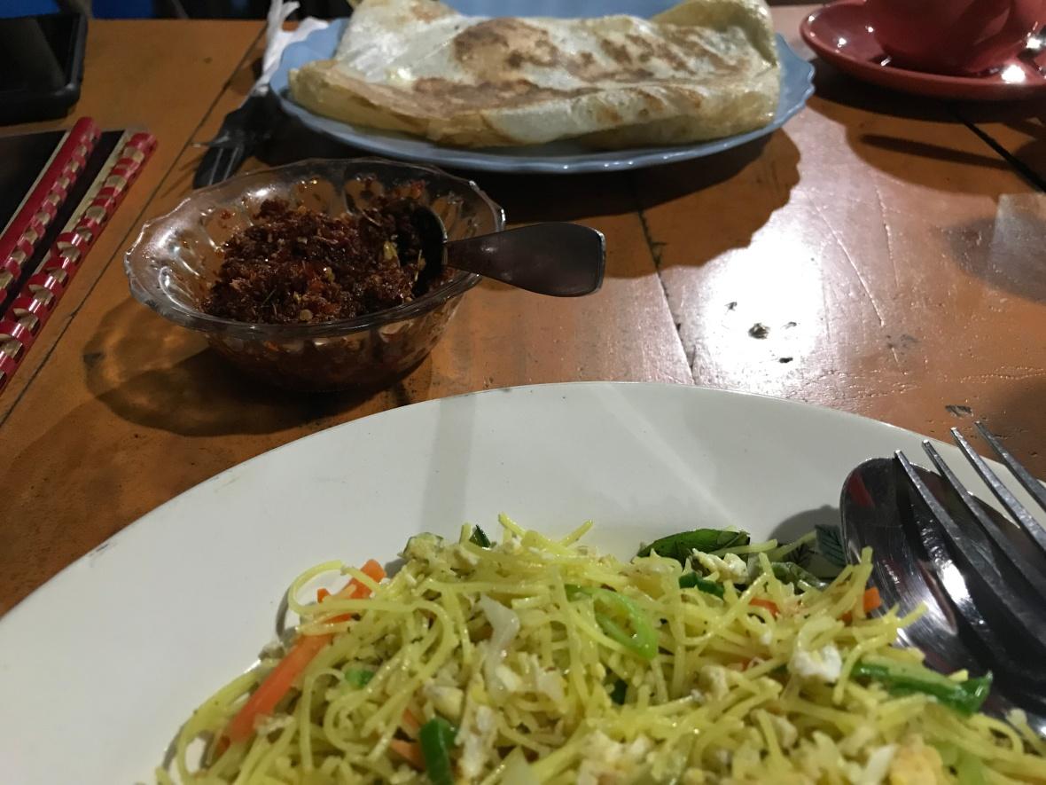 Dinner At Maggie's Roti Shop, Mirissa, Sri Lanka