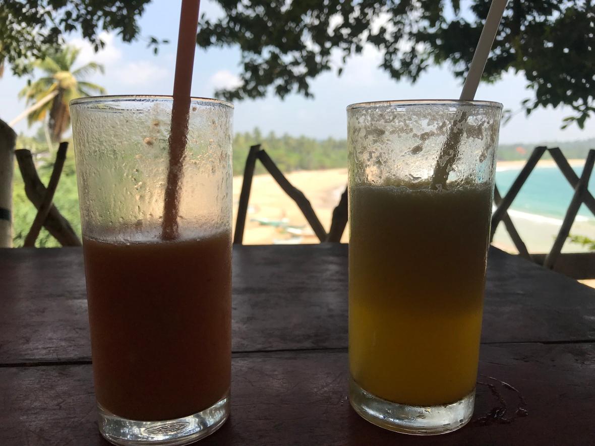 Drinks, Talalla Bay Beach House, Talalla Beach, Sri Lanka
