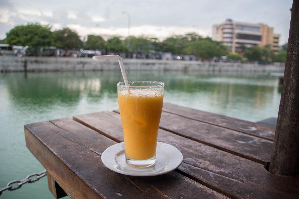 Mango Juice, Pettah Floating Market, Colombo, Sri Lanka