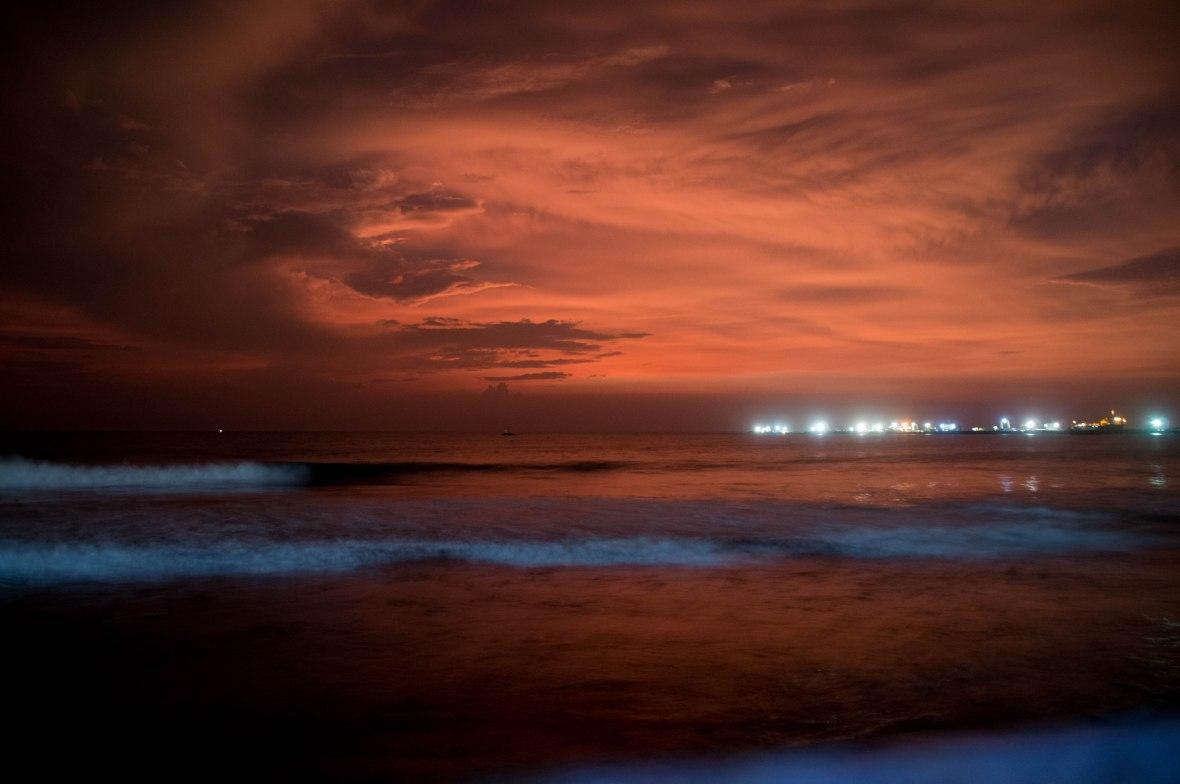 Red Sunset, Galle Face, Colombo, Sri Lanka