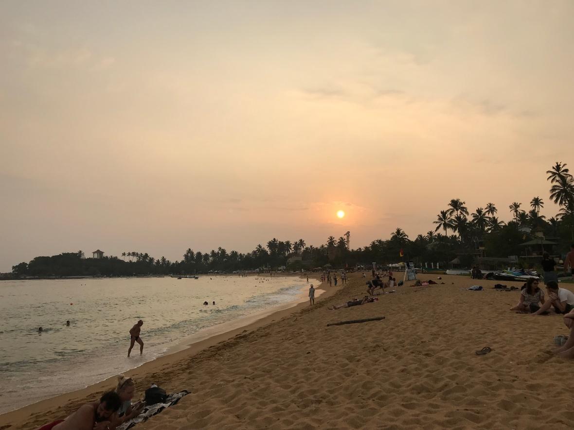 Sunset At Unawatuna Beach, Sri Lanka