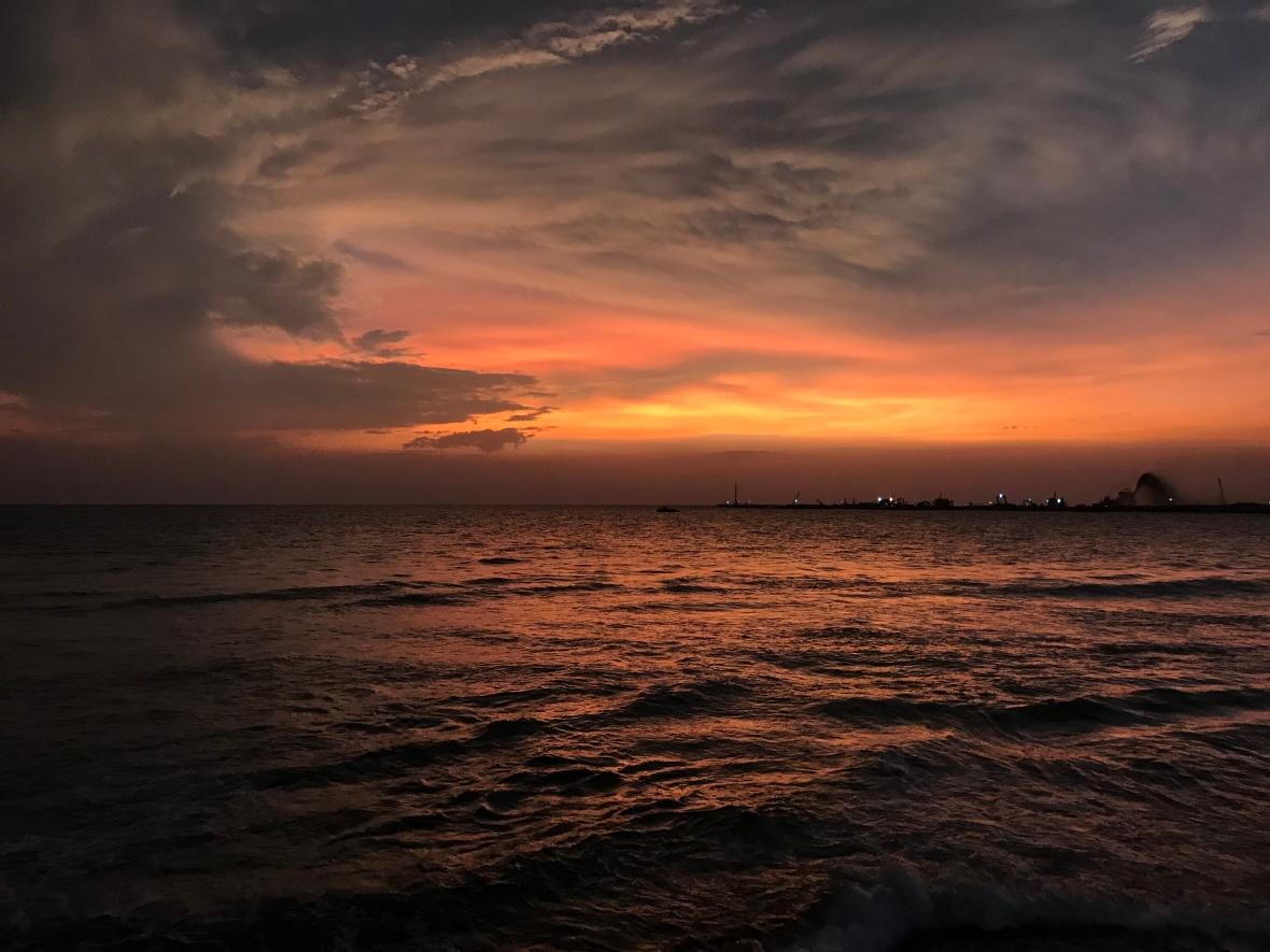 Sunset, Galle Face, Colombo, Sri Lanka