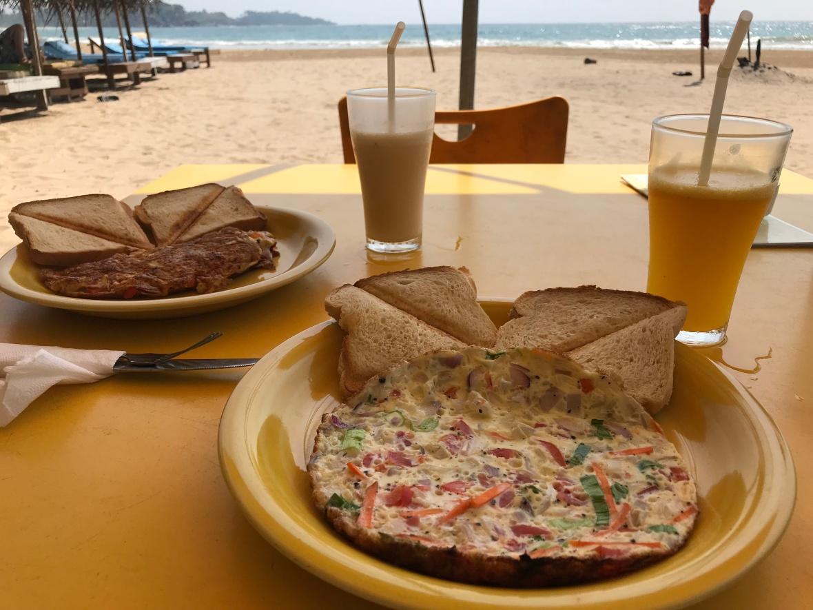 Traditional Omlettes For Breakfast, Talalla Beach, Sri Lanka