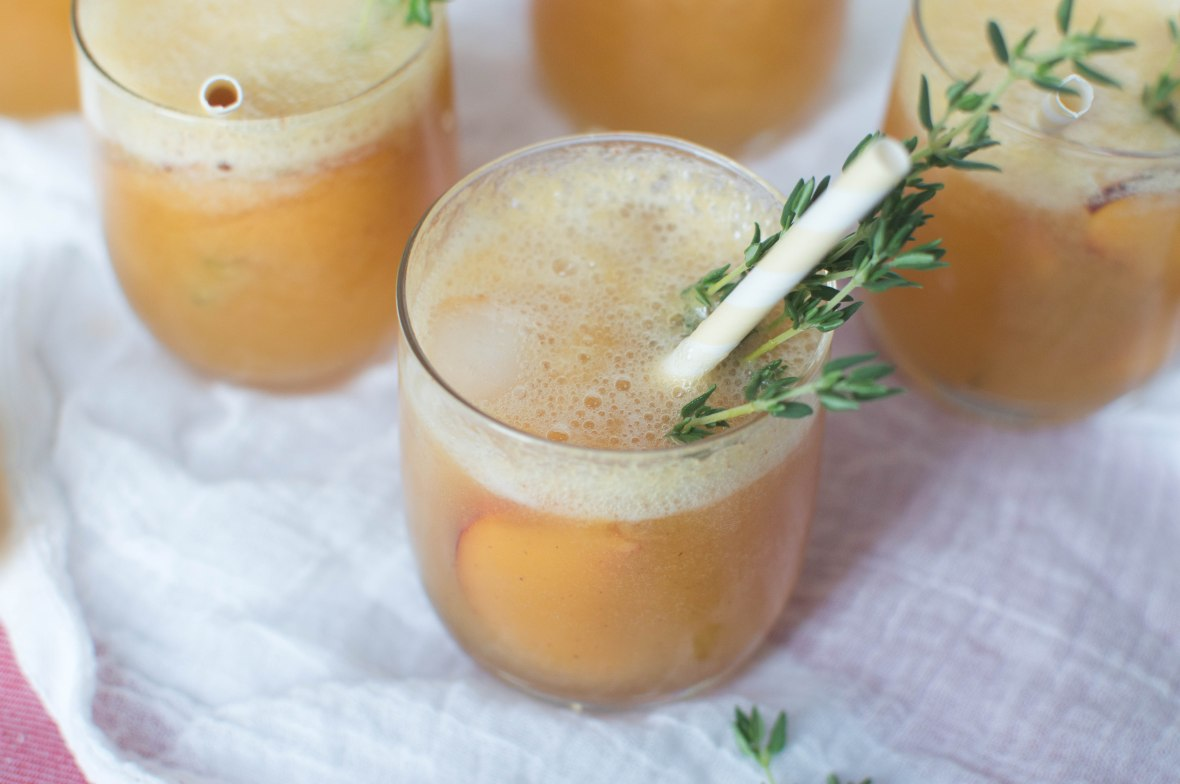 Lemonade With Peach And Thyme - Kay's Kitchen