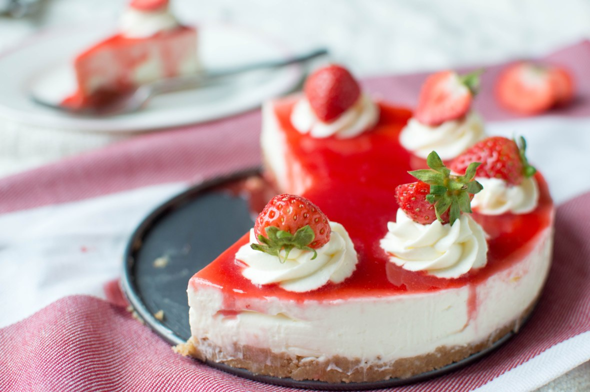 No Bake Strawberry Cheesecake - Kay's Kitchen