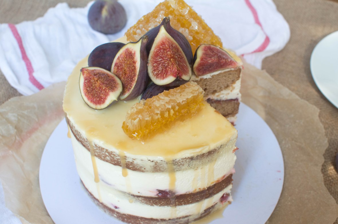 Spiced Fig Cake With Homemade Fig Jam And Salted Honey Drip - Kay's Kitchen