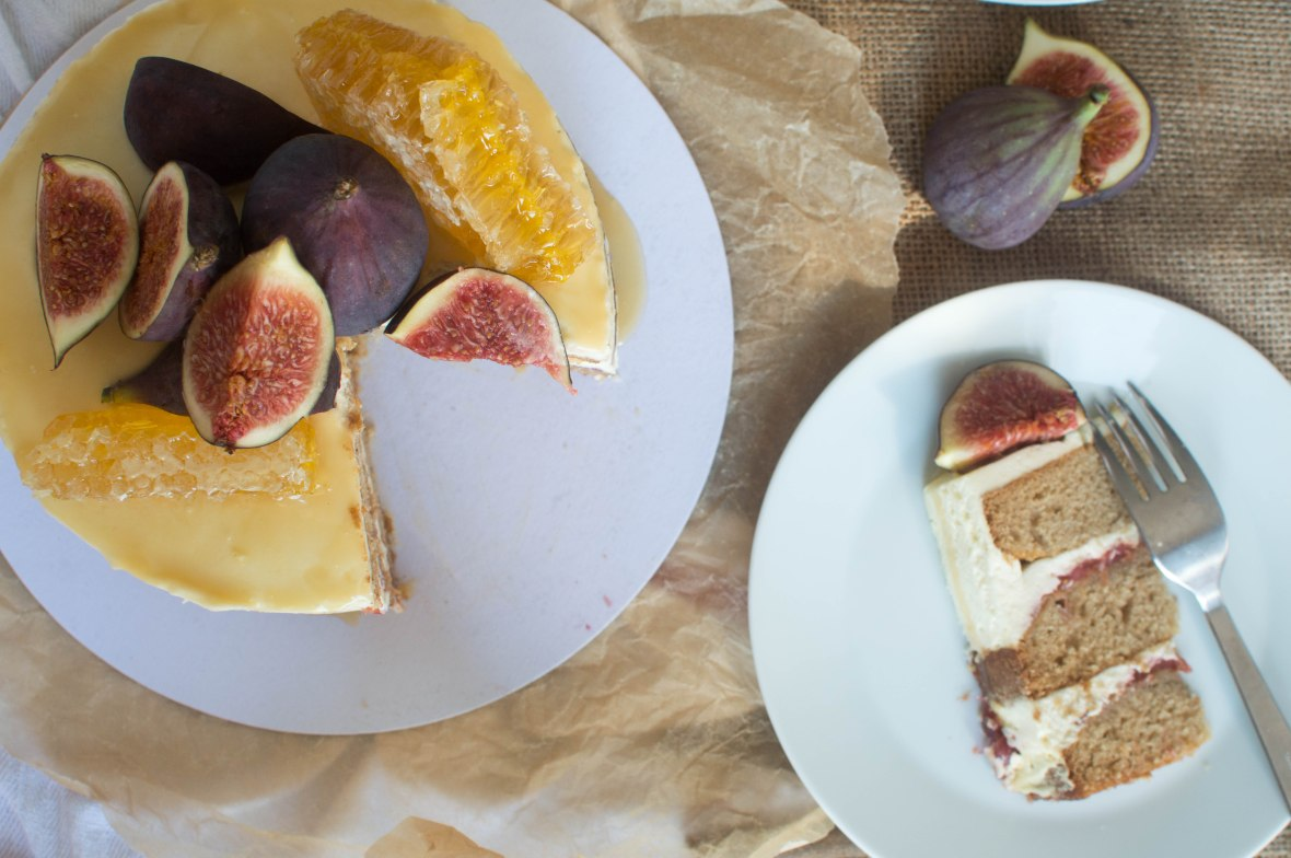 Spiced Fig Cake With Homemade Fig Jam And Salted Honey Drizzle - Kay's Kitchen