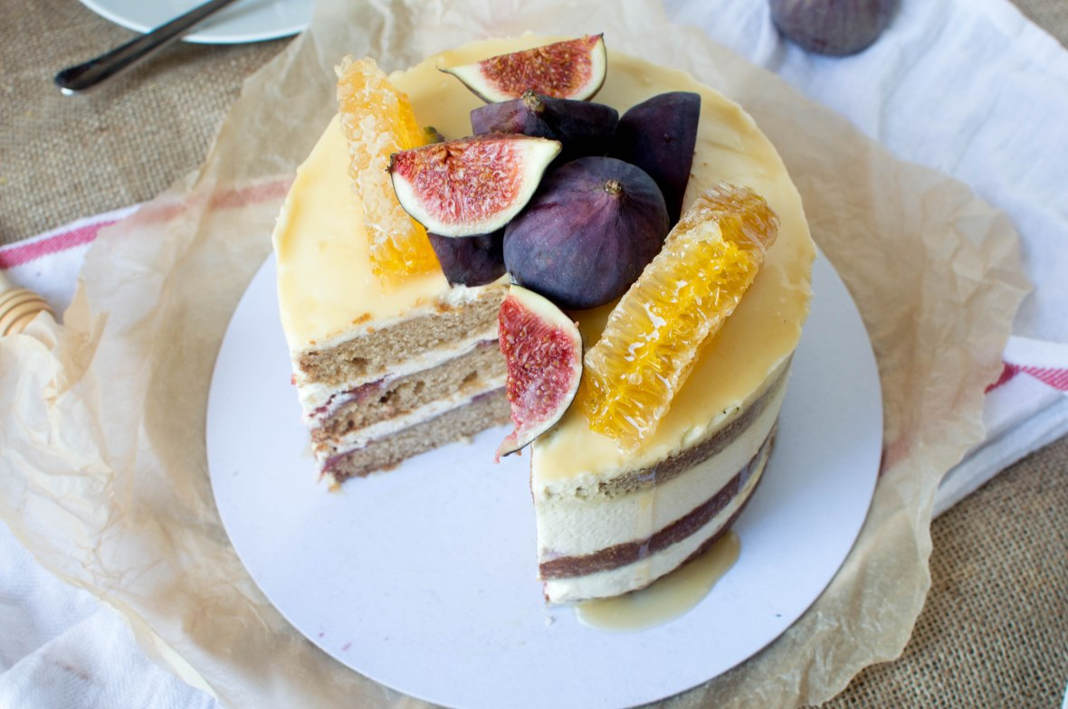 Spiced Fig & Honey Cake - Kay's Kitchen