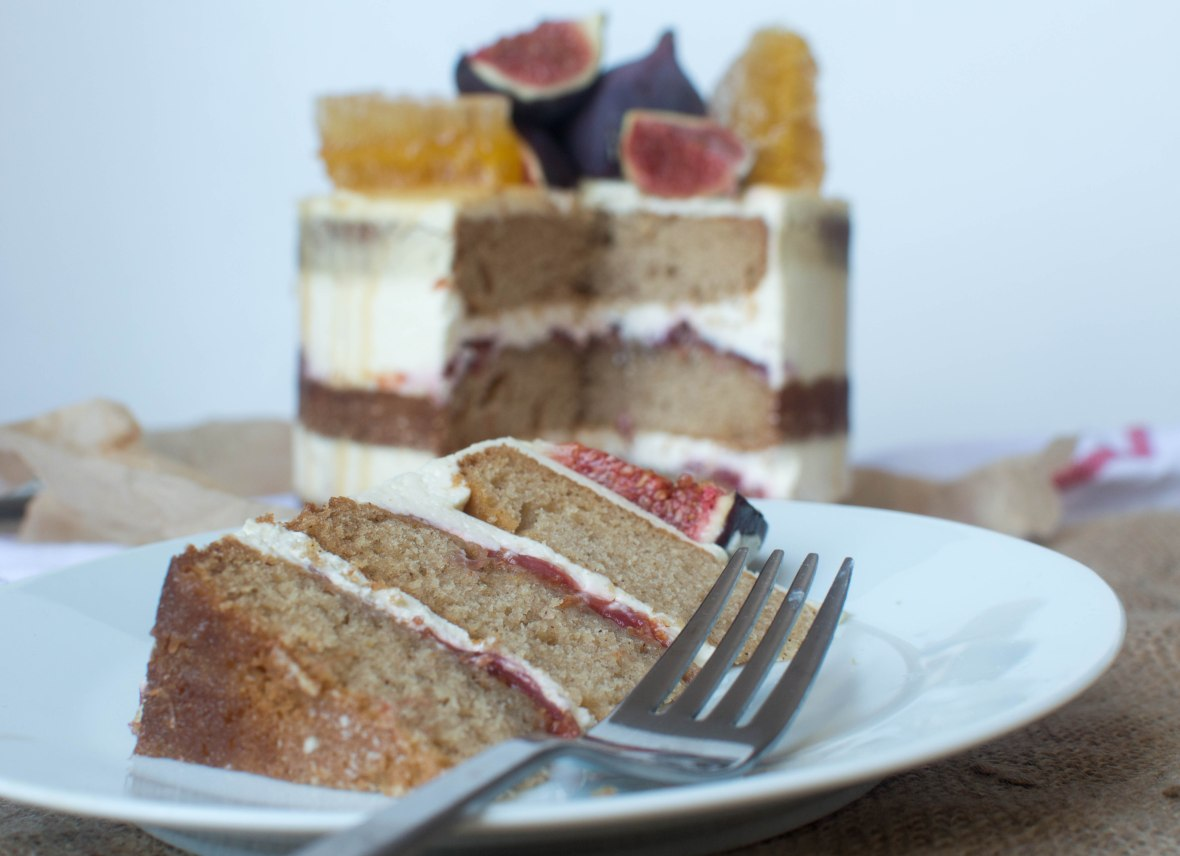 Spiced Honey & Fig Cake - Kay's Kitchen