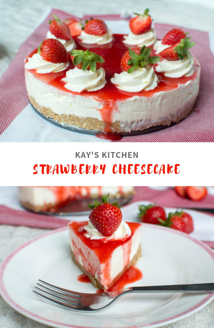 Strawberry Cheesecake - Kay's Kitchen
