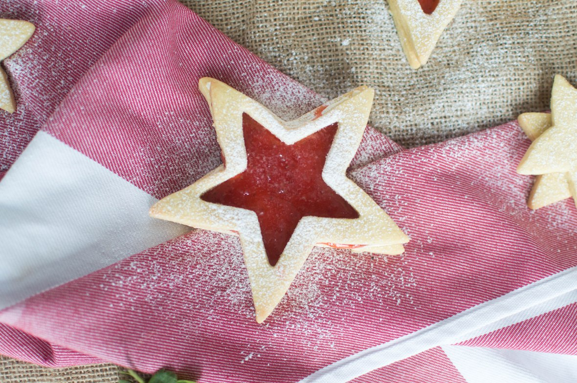 Jammy Star Biscuits - Kay's Kitchen