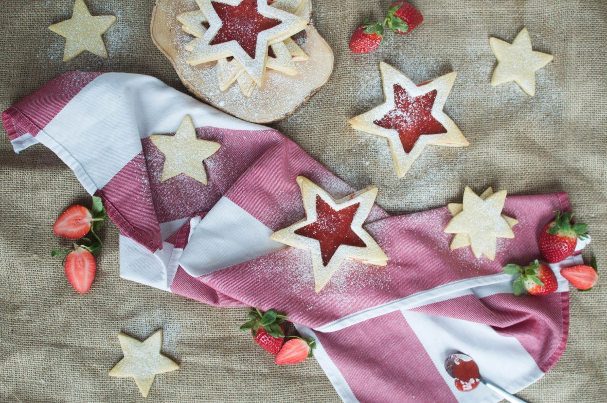 Star Shaped Shortbread Biscuits With Jam - Kay's Kitchen