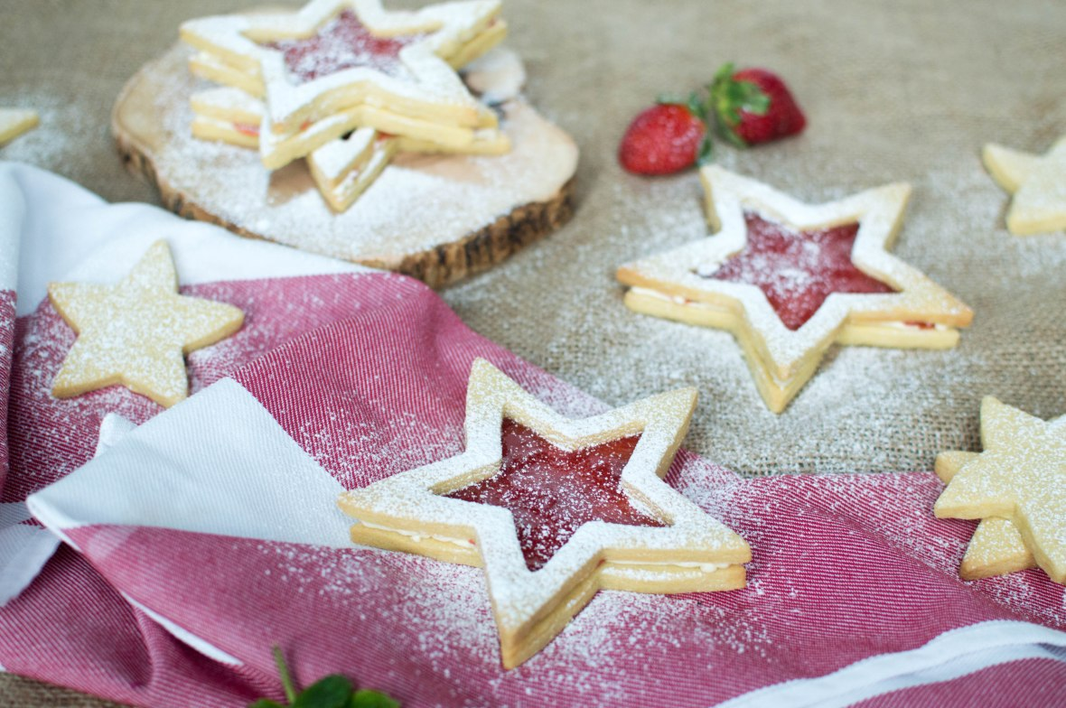 Strawberry Jammy Star Biscuits - Kay's Kitchen