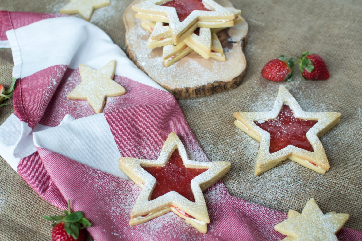 Strawberry Jammy Stars - Kay's Kitchen
