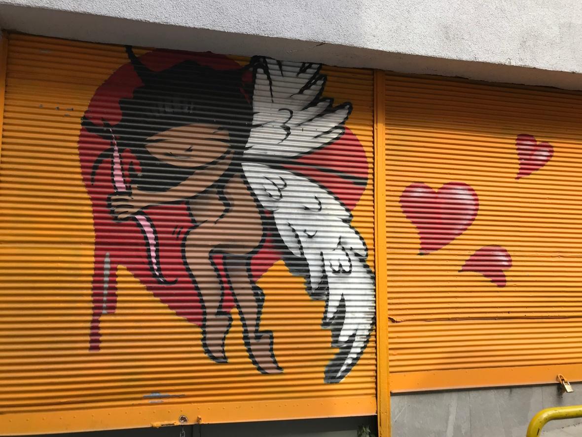 angel, street art, istanbul, turkey