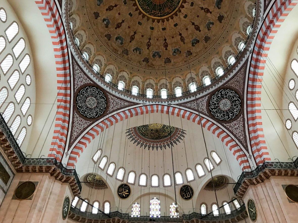 architecture, süleymaniye mosque, istanbul, turkey