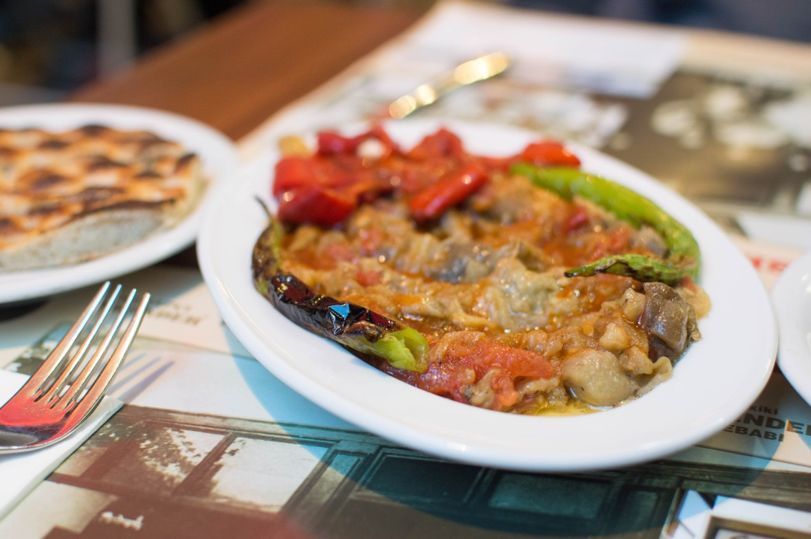 aubergine starter, kebapçı İskender, kadikoy, istanbul, turkey