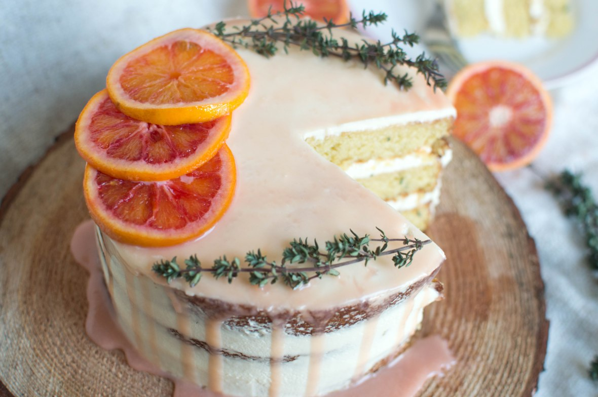 blood orange, almond and thyme cake recipe - kay's kitchen