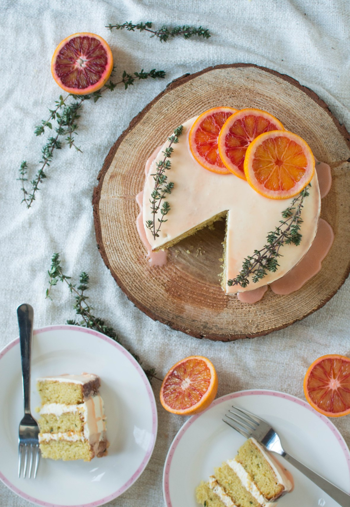 blood orange and thyme cake - kay's kitchen