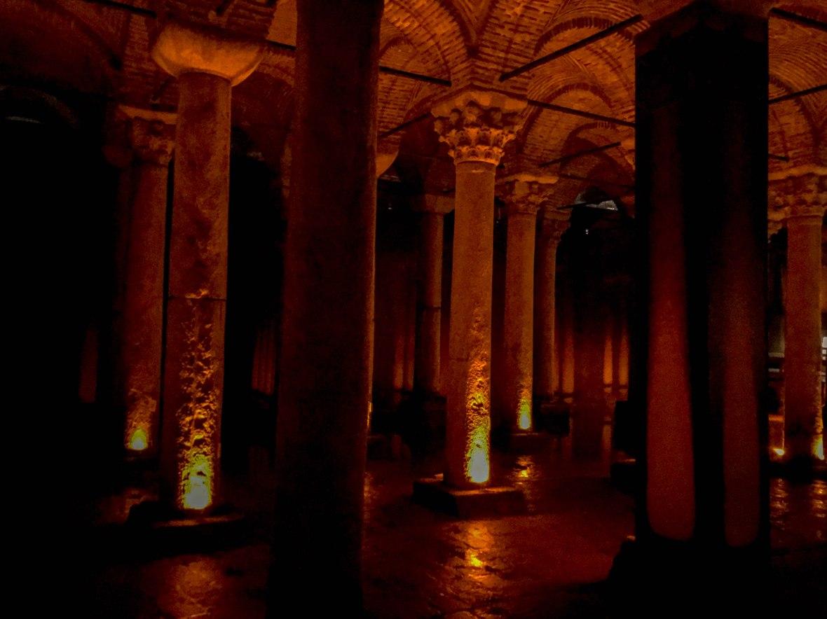 columns, basilica cistern, istanbul, turkey