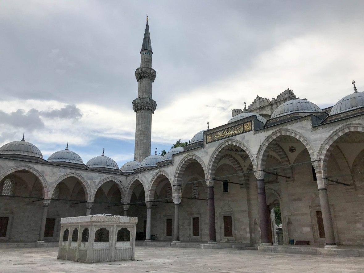 entrance, süleymaniye mosque, istanbul, turkey