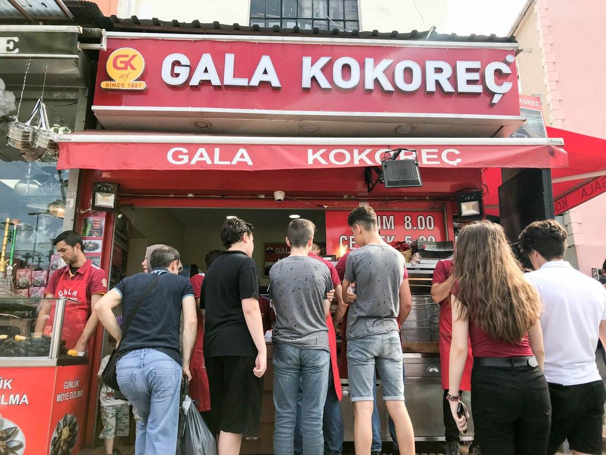 gala kokoreç, istanbul, turkey
