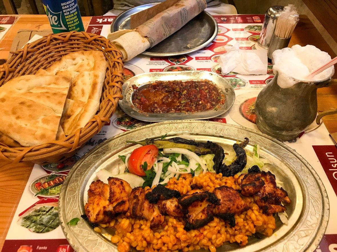 lunch at lezzet-i Şark, istanbul, turkey