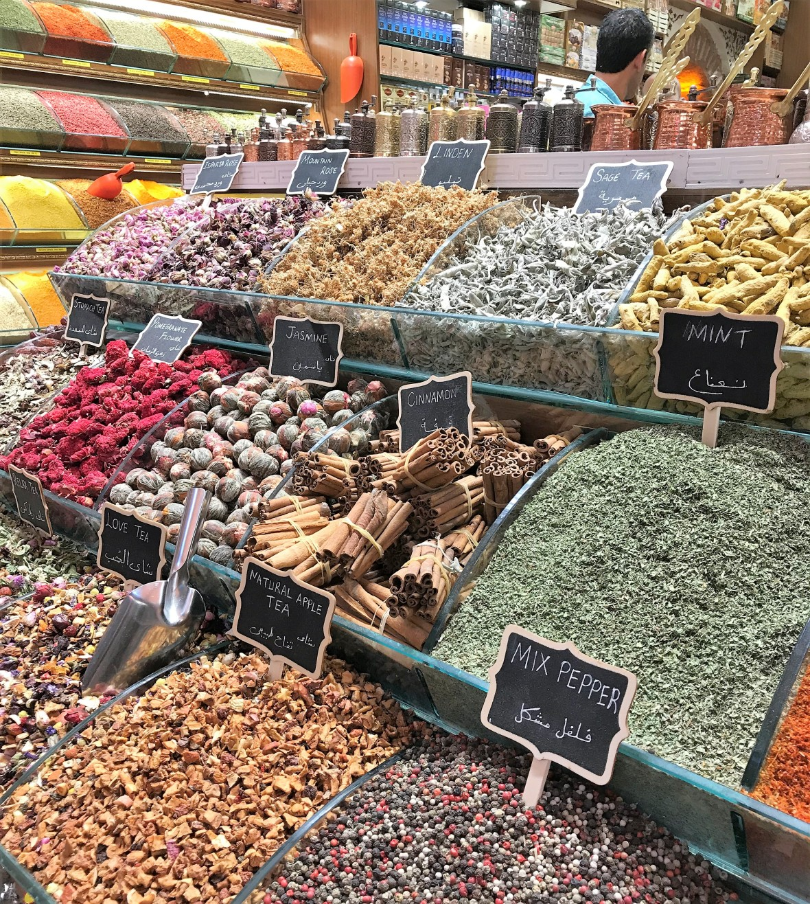 spices at the spice bazaar, istanbul, turkey