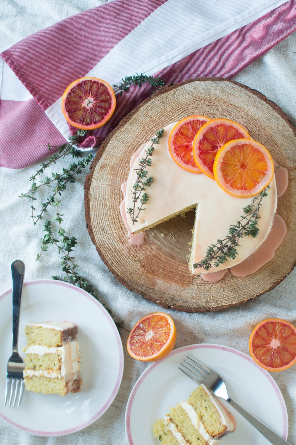 thyme and blood orange cake - kay's kitchen