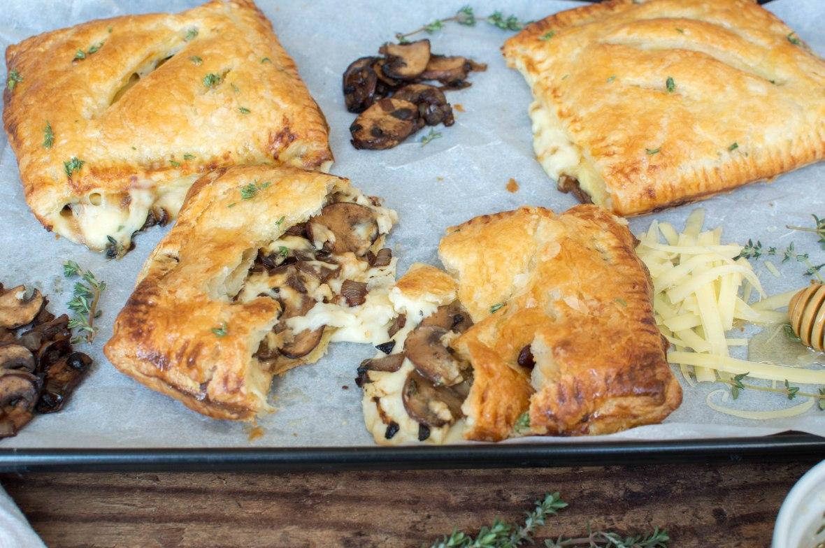 Black Garlic Cheese And Mushroom Pasty - Kay's Kitchen