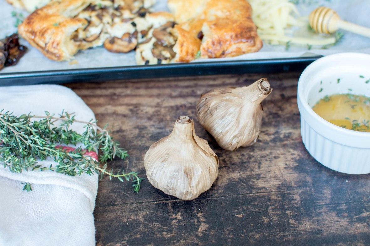 Black Garlic Recipe, Cheese And Mushroom Pasty - Kay's Kitchen