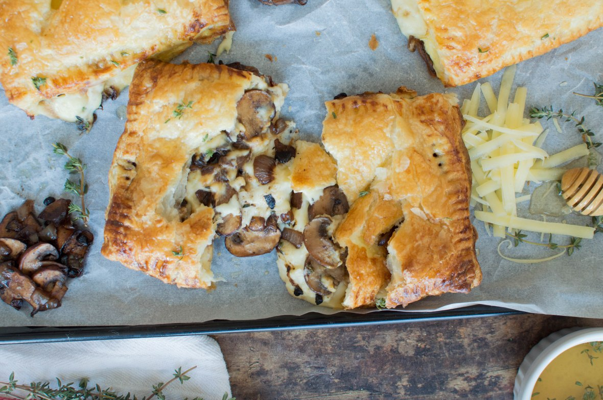 Black Garlic, Thyme Mushroom & Cheese Pasties - Kay's Kitchen