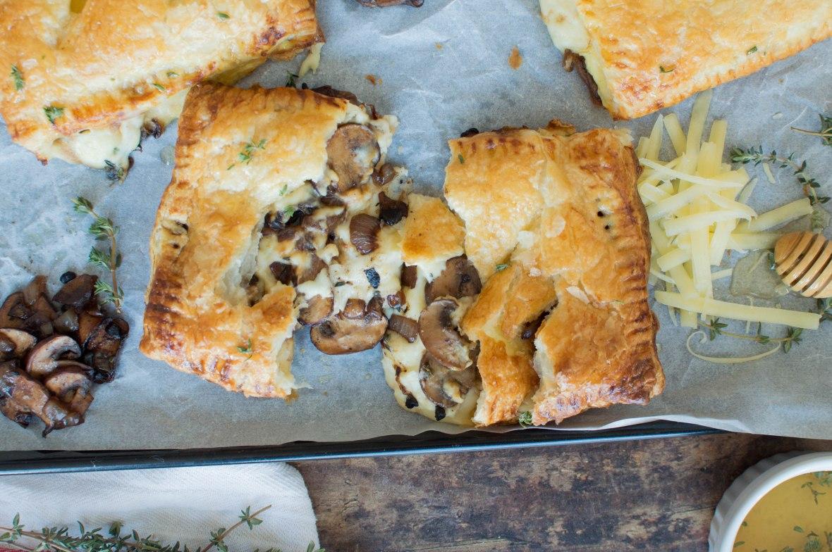 Black Garlic, Thyme Mushroom & Cheese Pasties - Kay's Kitchen