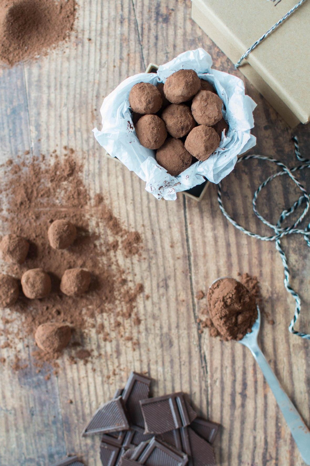 Dark Chocolate Truffles - Kay's Kitchen