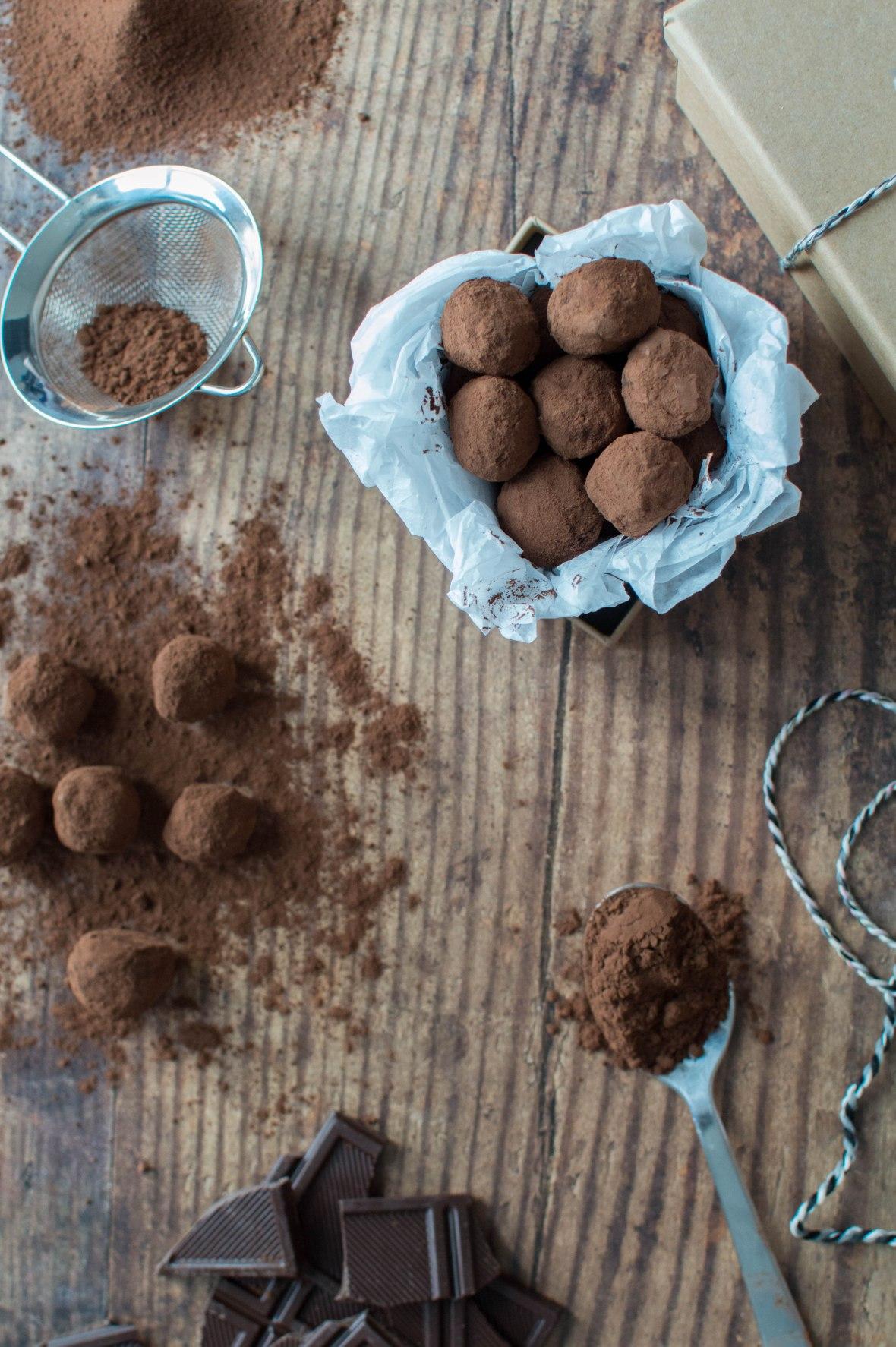 Homemade Dark Chocolate Truffles Recipe - Kay's Kitchen
