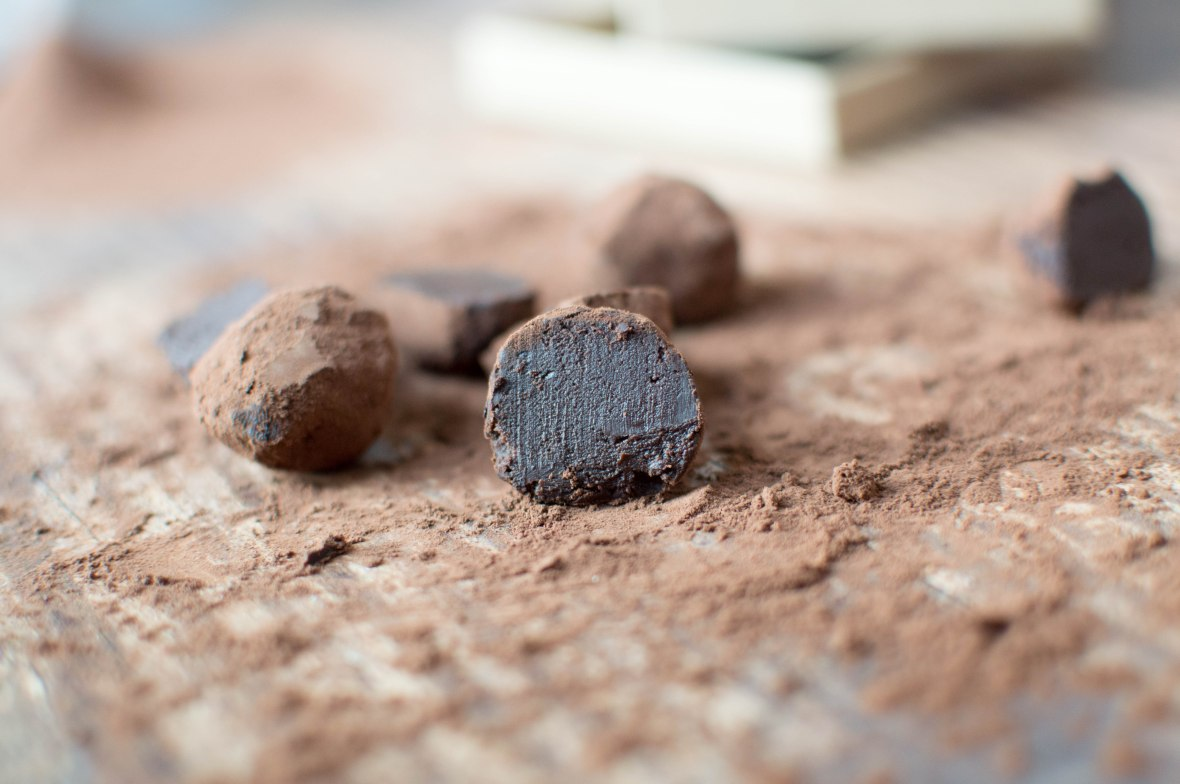 Inside Dark Chocolate Truffle - Kay's Kitchen
