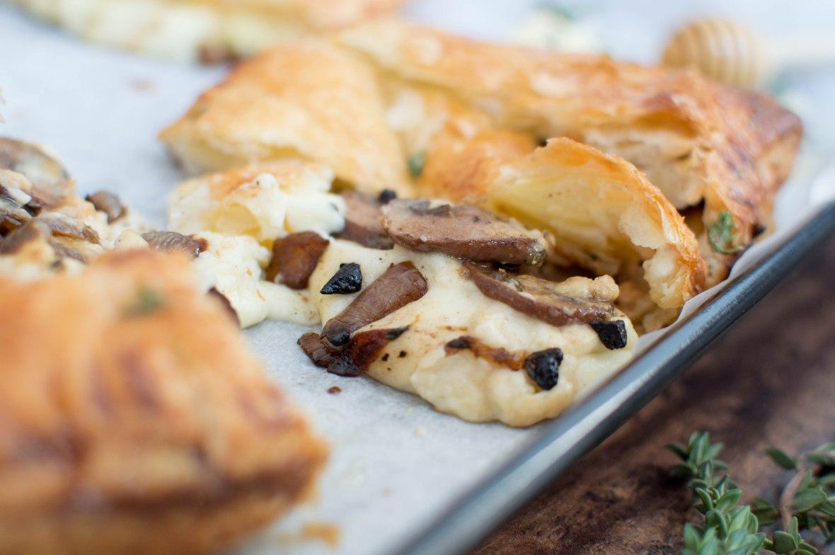 Mushroom And Cheese Pasty - Kay's Kitchen