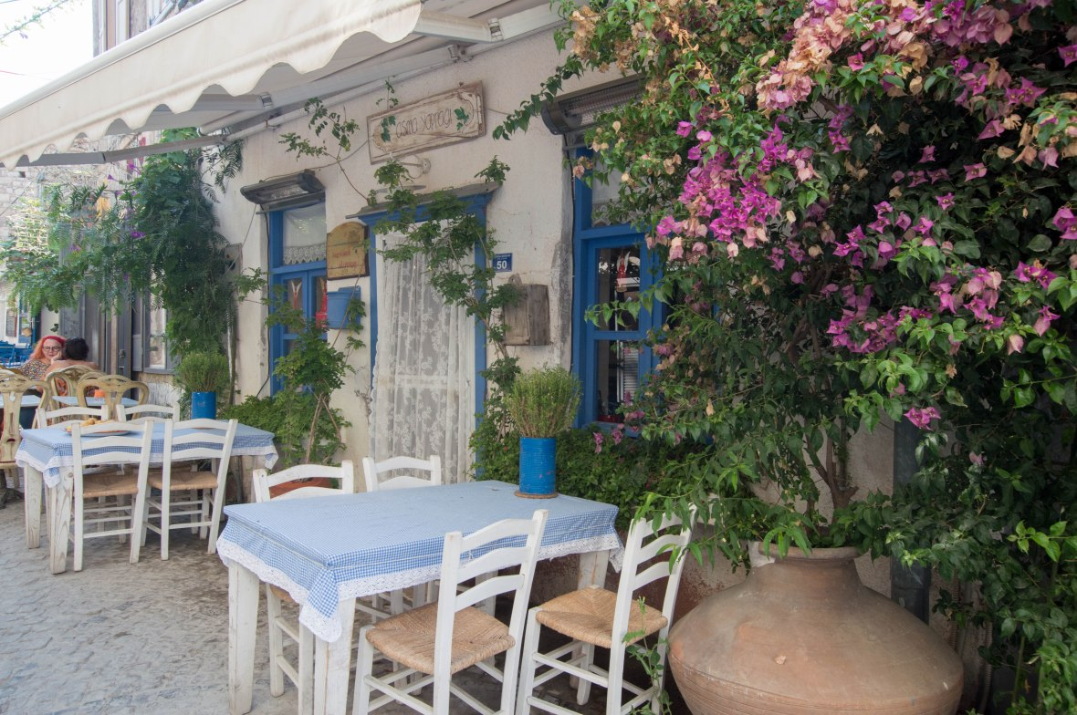 Cute Cafes, Alacati, Turkey