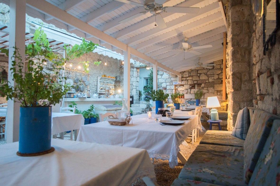 Dining At Asma Yaprağı, Alaçatı, Turkey