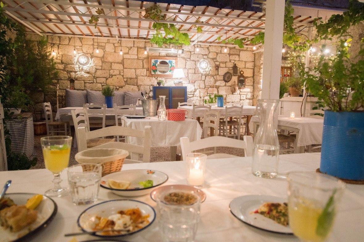 Dinner, Asma Yaprağı, Alaçatı, Turkey
