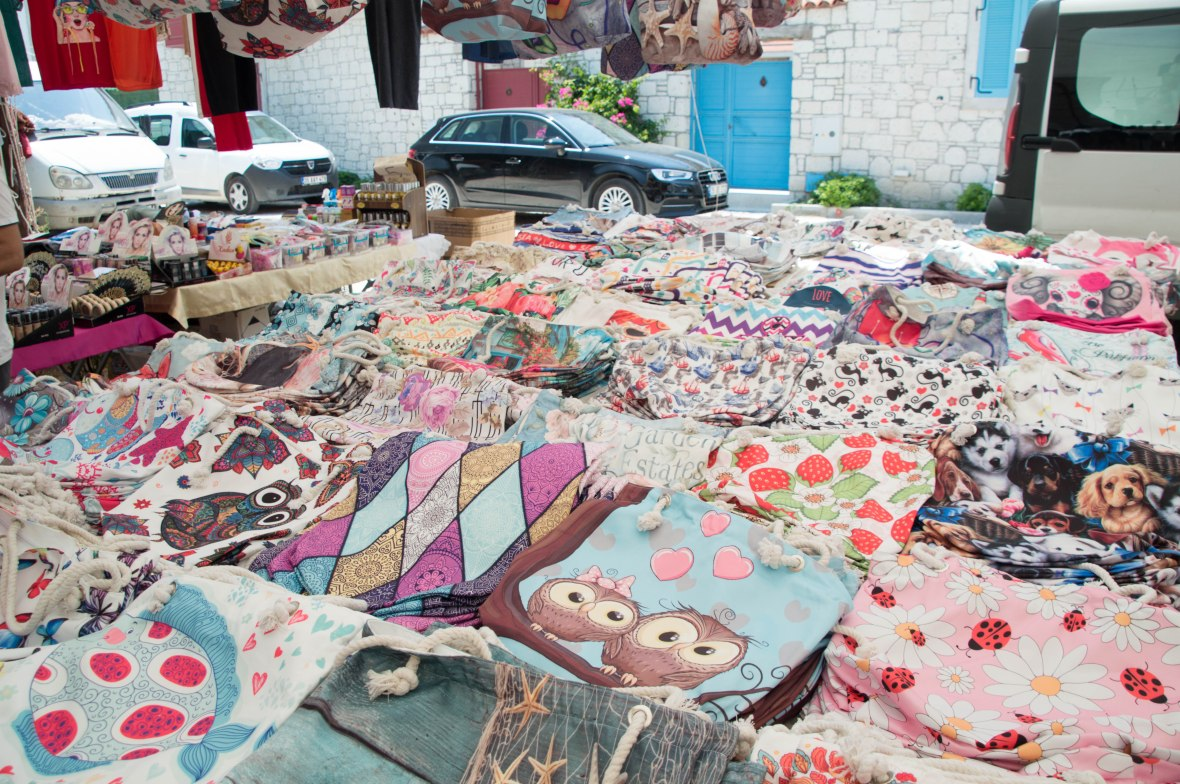 Drawstring Bags, Alaçatı Market, Turkey