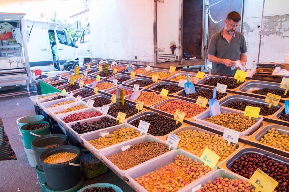 Olives, Alaçatı Market, Turkey