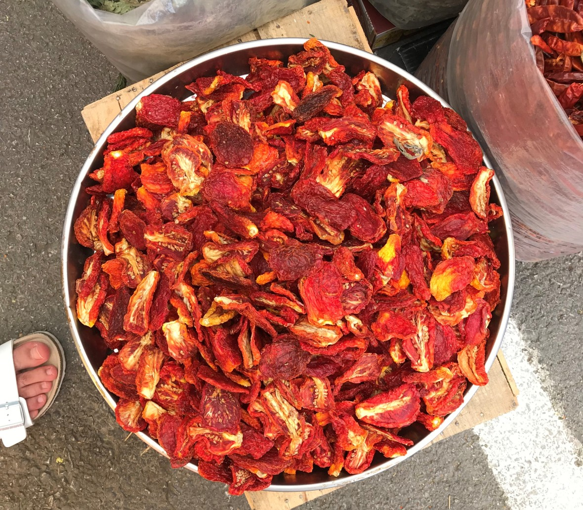 Sundried Tomatoes. Alaçatı Market, Turkey