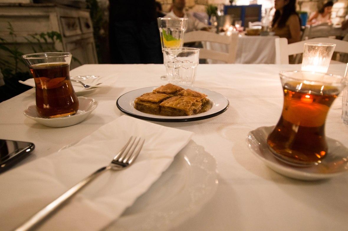 Tea And Baklava, Asma Yaprağı, Alaçatı, Turkey