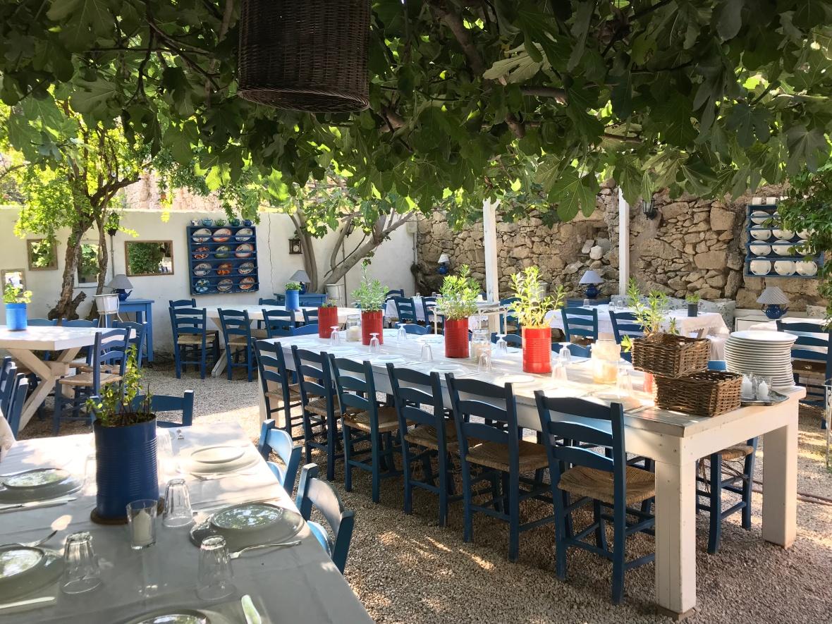 The Dining Area, Garden, Asma Yaprağı, Alaçatı, Turkey